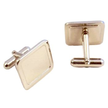 Cufflink Pair Square 16mm silver
